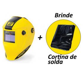 Máscara de Solda Esab Warrior tech + 1 Cortina de Solda